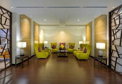 Lobby at Ghaya Grand Hotel Dubai