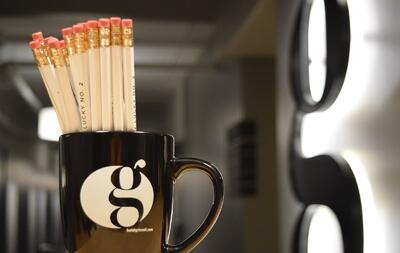 pencils in coffee cup