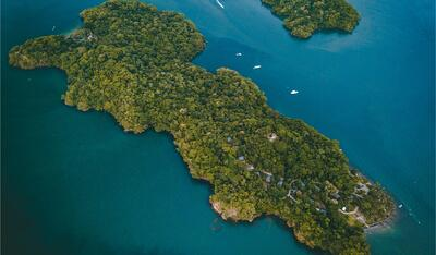 Isla Chuita Arial View
