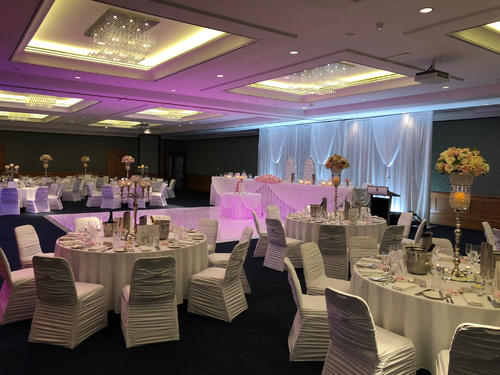 Table setup in a wedding reception of Duxton Hotel Perth