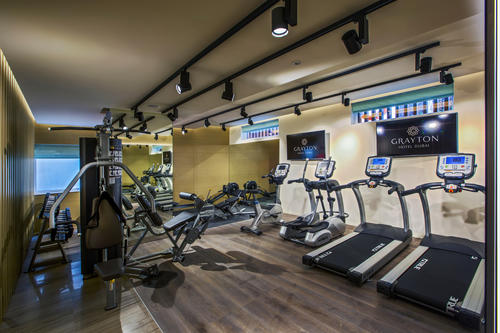 Gym at Grayton Hotel Dubai