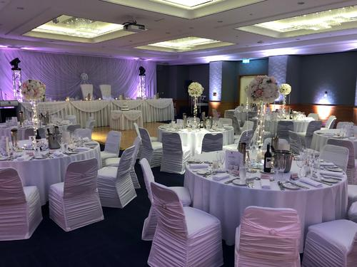 Decorated Ballroom wedding reception of Duxton Hotel Perth