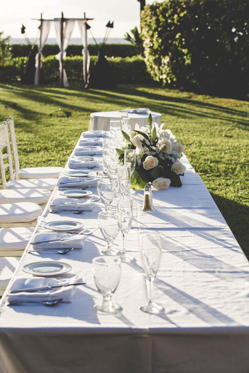 wedding table outdoor venue