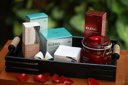 View of spa treatment products at Peppers Seminyak