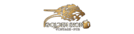 logo of golden lyon vintage pub