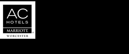logo of ac hotels marriott worcester waschusett ballroom