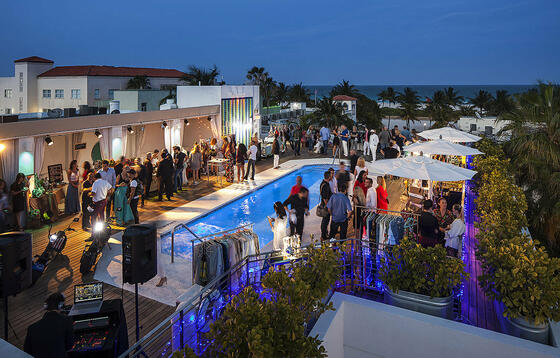 events on the rooftop pool