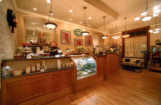 Interior of Legends Coffee Shop