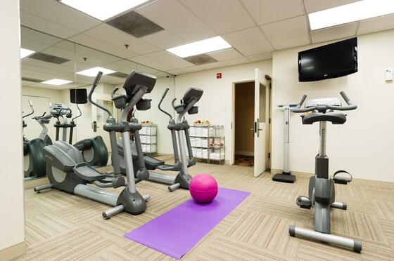 exercise room with gym equipment