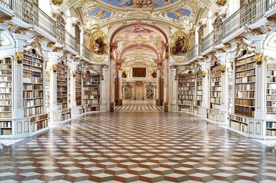 Library in Stift Admont
