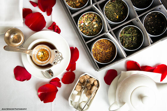 afternoon tea with large selection