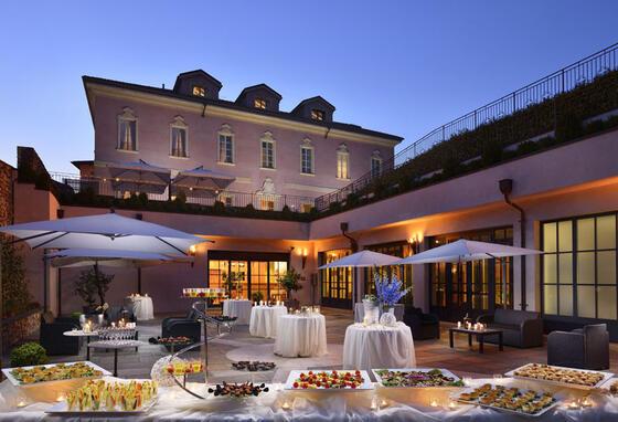 Catering at Castello dal Pozzo in Oleggio Castello, Italy