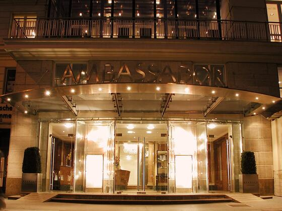 Entrance at Ambassador Hotel in Vienna