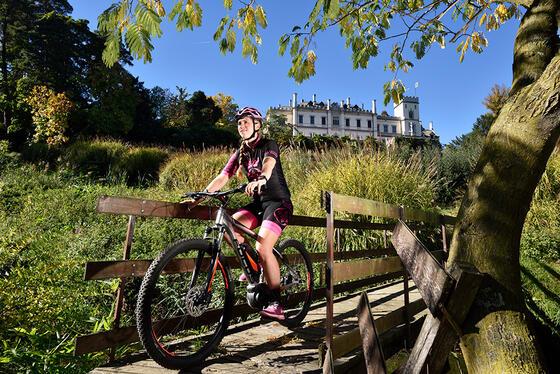 Biking near Castello dal Pozzo in Oleggio Castello, Italy