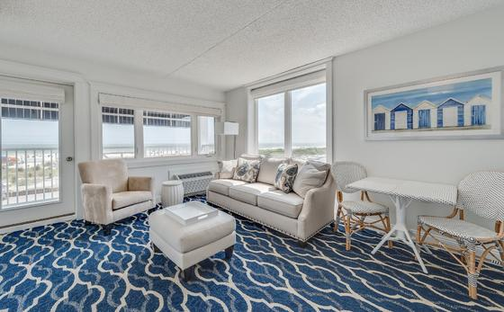 Oceanfront Suite Living Room