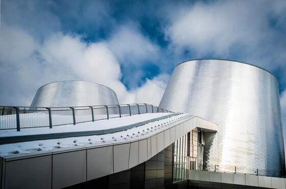 Exterior of the planetarium.