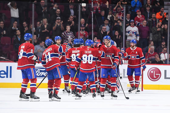 Montreal Canadiens hockey players.