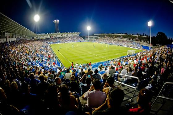 Montreal Impact soccer pitch.