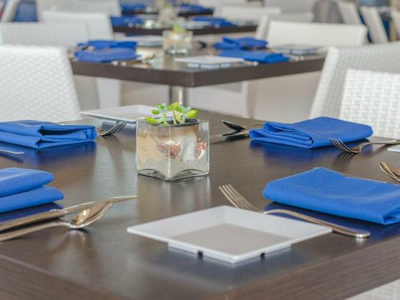 coastal blue dining table