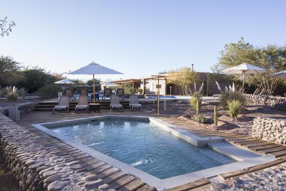 piscinas spa hotel cumbres san pedro de atacama