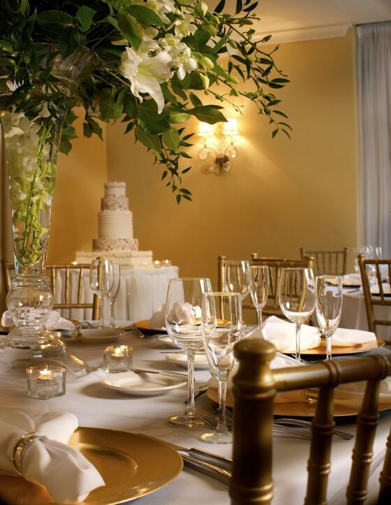 Crystal Ballroom table