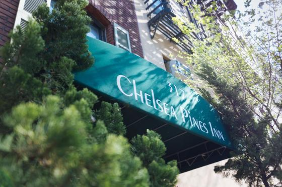 Awning for Chelsea Pines Inn.