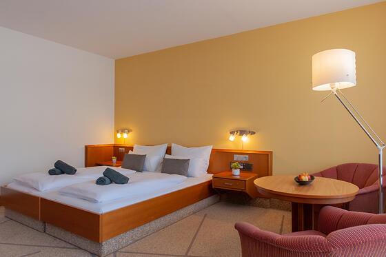Classic Room at Hotel Frankenland in Bad Kissingen, Germany