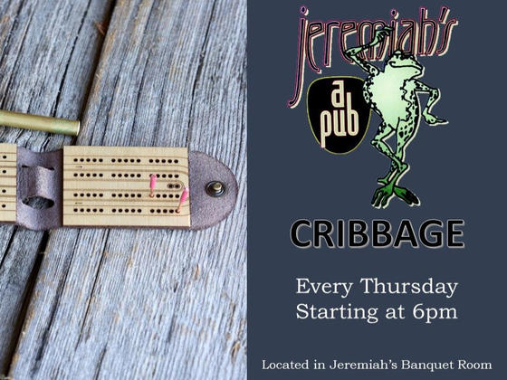 Banner for Cribbage event.