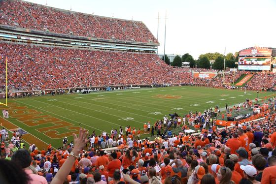 death valley stadium and clemson fans