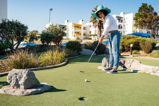 Mini Golf area in Club Mykonos
