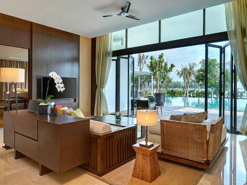 Separate living room in Empress Beach Villa at Danna Langkawi