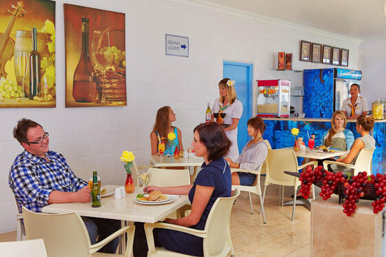 Leisure cafe in Club Mykonos