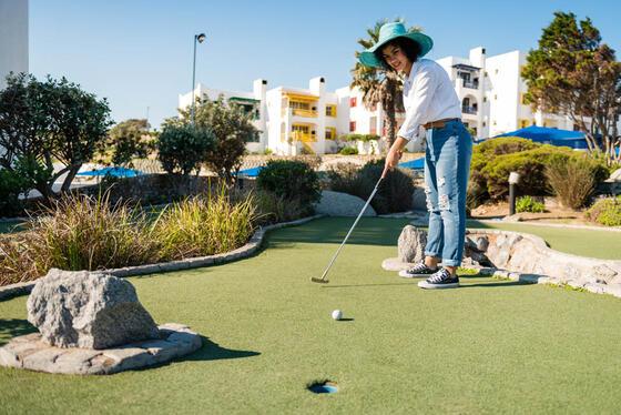 Mini Golf area in Club Mykonos
