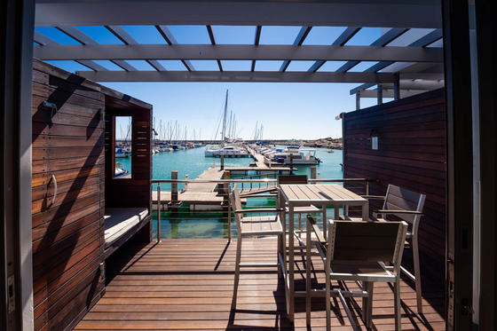 Patio And View Of Marina From Marina 2 Bedroom Apartment in Club