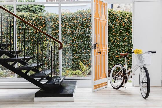 Staircase and Bicycle