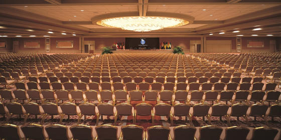 Ballroom with rows of chairs