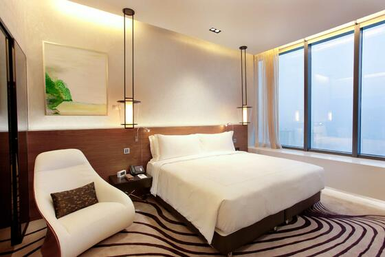 Interior of Heliconia bedroom at one farrer hotel