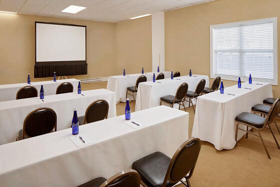 Meeting Room arranged for a meeting at Westford Regency