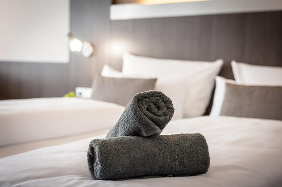 Towels at Hotel Frankenland in Bad Kissingen, Germany