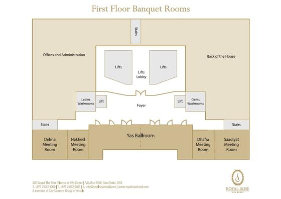 Floor Plan at Royal Rose Hotel in Abu Dhabi, UAE