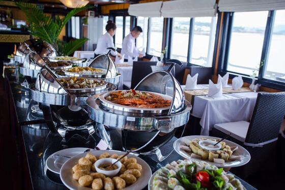Syrena Cruises - Best Halong Bay Cruises - Lotus Restaurant Buf