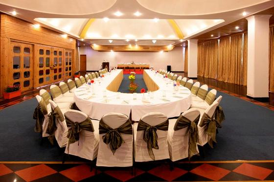 Banquet Hall at ManuAllaya Resort Spa Manali in Himachal Pradesh