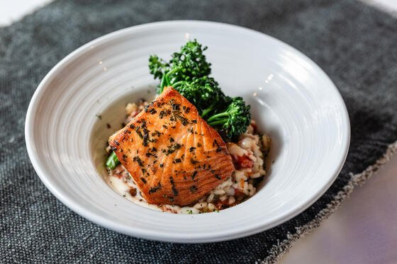 salmon and rice dish
