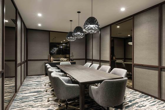boardroom with long table
