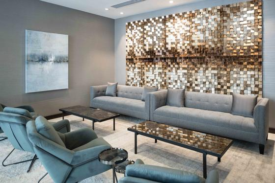 sofa chairs and couch in modern lounge area