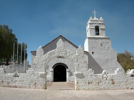 San Pedro de Atacama Church near NOI Casa Atacama hotel