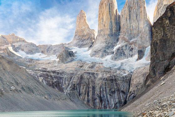 Landscape view of Torres del Paine near NOI Indigo Patagonia