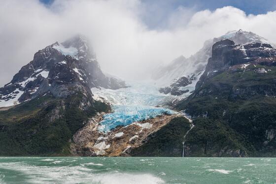 Landscape view of Balmaceda & Serrano Glaciers near NOI Indigo