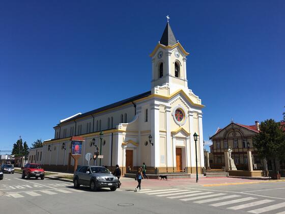 exterior view of Maria Auxiliadora Church near NOI Indigo