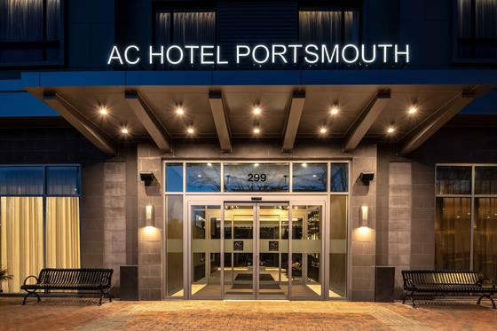 entrance to ac hotel portsmouth